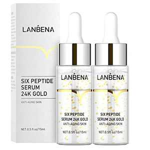 Line Rewind 24K Gold Serum - 24K Gold Collagen Ampoule Lifting Serum for Tightens, Softens & Lifts Skin, Face Skin Gold Essence Serum, Skin Lift Firming Care, Eliminate Fine Lines Moisturizing (2PCS)