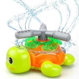 VEPOWER Water Sprinkler Toys for Kids, Turtle Spray Sprinkler for 3+ Year Old Boys Girls, Courtyard Splash Sprinkler Games, Outdoor Spinning Water Toys for Summer