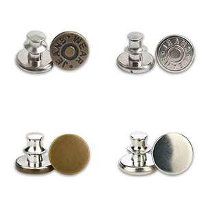Jean Button Pins, 4 PCS Jean Button Replacement, Adjustable Button Pins, Button Clips for Fashion Jeans Pants Sewing Crafts DIY, Metal Button Adds Or Reduces Waist in Seconds