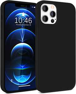 Tosuizum Silicone Case Compatible with iPhone 12 Pro Max Case, [Full Body Protection] [Silky and Soft Touch] [Easy to Hold] Shockproof Protective Phone Case for 12 Pro Max 6.7 inch 5G 2020 - Black