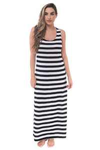 Just Love Racer Back Tank Dress with Stripes 2093-BW-1X