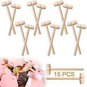 15 Pcs Mini Wooden Hammer - Wooden Mallet for Seafood Parties, Jewelry Making, Leather Crafts and Other Mini Mallet