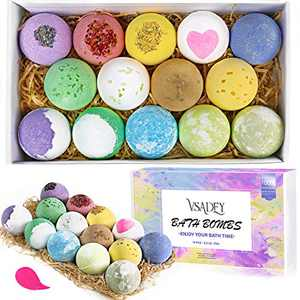 Bath Bombs Set, VSADEY 14 Pack Fizz Effect Handmade Bath Bombs Gift Set Essential Oils Bubble Bath for Women, Men, Girls, Kids, Valentine's Day, Mother's Day, Birthday Gift