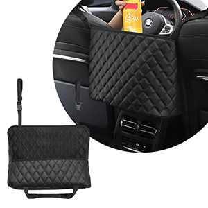 Car Net Pocket Handbag Holder, Durable Leather Seat Back Organizer Large Capacity Bag, Purse Storage & Pocket, Car Seat Back Net Bag, Barrier of Backseat Pet Kids