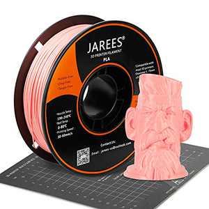PLA Filament 1.75mm with 3D Build Surface,Pink PLA 3D Printer Filament Dimensional Accuracy +/- 0.02 mm,1kg (2.2lbs) Spool,Fit Most FDM Printers