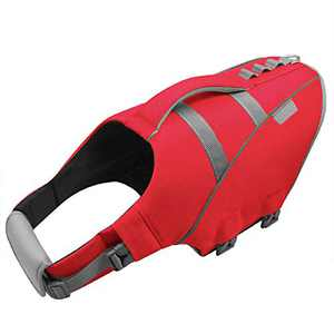 MIGOHI Dog Life Jacket, Reflective & Adjustable Preserver Floatation Vest with Rescue Handle, Ripstop Safety Life Saver for Small Medium Large Dogs, Red, XS