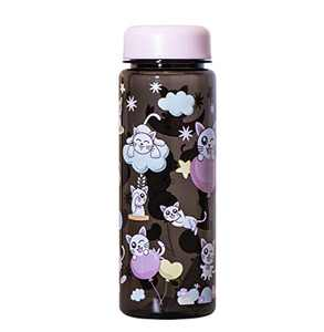 JOYSHAKER Wide Mouth water bottle,BPA Free Tritran 17oZ Kis Sport bottles,Gallon Water Bottle With time Marker,2.5L Big Bottle Jug(Black, 17oz)