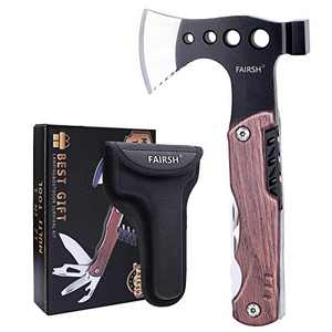 Gifts for Men Dad,Multitool Camping Accessories, 12-in-1 Survival Gear and Equipment with Hammer, Unique Hunting Fishing Gift Ideas for Him Boyfriend Husband Teenage Boys, Cool Gadgets, Multitool Axe
