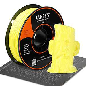 PLA Filament 1.75mm with 3D Build Surface,Yellow PLA 3D Printer Filament Dimensional Accuracy +/- 0.02 mm,1kg (2.2lbs) Spool,Fit Most FDM Printers