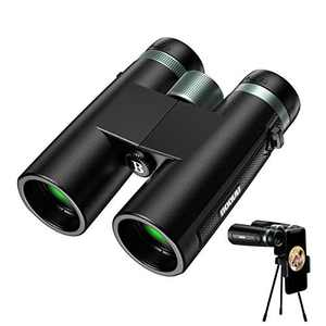BOOVV 12x42 Binoculars for Adults, Super Bright BAK4 Waterproof Binoculars for Bird Watching, Hunting,Sports with Smart Phone Adapter for Photography