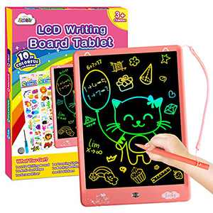 ZMLM LCD Writing Tablet for Toddler: 10 Inch Erasable Drawing Doodle Screen Board Kid Digital Sketch Art Scribbler Color Pad Preschool Learning Educational Toy for Girl 2-8 Year Old Birthday Game Gift