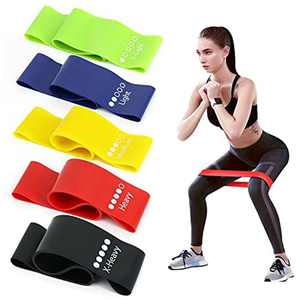 Ealicere Resistance Bands,Set of 5 Skin-Friendly Exercise Band with 5 Different Resistance Levels for Women and Men, Ideal for Gym, Home, Yoga, Strength Training