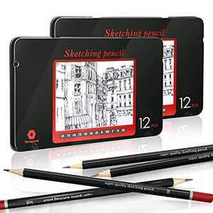 Sketching Pencils, EooUooIP 24pcs Professional Drawing Pencils Sketch Pencil Set 8B -2H,Art Pencil Perfect for Artist,Beginner,Student,Designer