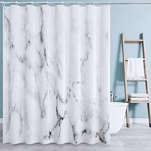 Shower Curtain for Bathroom Marble Black White Texture Shower Curtain Grey Texture Modern Bathtub Sets Home Decor Waterproof 72x72