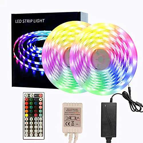 65.6ft LED Strip Lights, Color Changing Rope Lights with IR Remote for Bar Bedroom Party Wine Cabinet