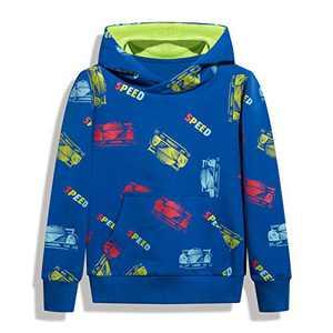 HZXVic Kids Dinosaur Hoodies for Boys Toddler Sweatshirt Casual Long Sleeve Pullover Tops (BlueCar-7T)