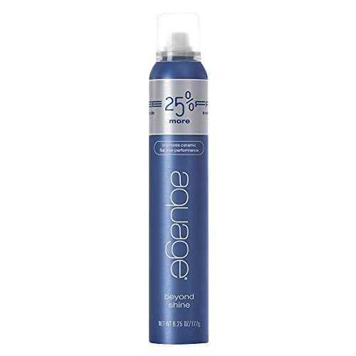 AQUAGE Beyond Shine, 6.25 Oz, Fine-Mist Silkening and Glossing Spray that Creates Brilliant Shine, Thermal-Pressing Product that Polishes, Silkens, and Smooths Curly Texture