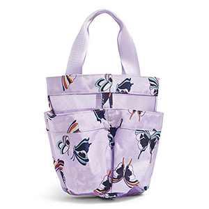 Vera Bradley Recycled Lighten Up Shower Caddy, Lavender Butterflies
