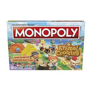 Hasbro Gaming Monopoly Animal Crossing New Horizons Edition Board Game for Kids Ages 8 and Up, Fun Game to Play for 2-4 Players