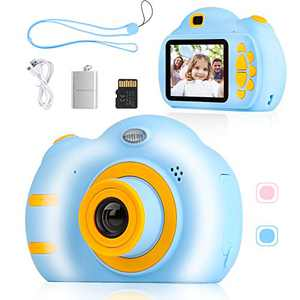 SEBIDER Camera for Kids 3-12 Year Old Boys Girls, 1080P 2.4 inch Toddler Video Children Digital Kids Cameras with 32GB SD Card, Gift Present for Kids(Blue)