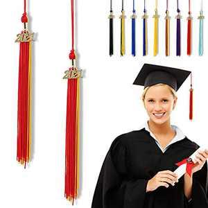 """Graduation Tassel 2021, Tassels for Graduation Cap 2021, 2021 Tassel Charm, 12"""" Graduation Tassels"""