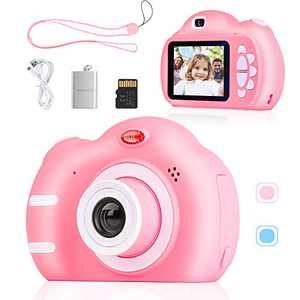 SEBIDER Camera for Kids 3-12 Year Old Boys Girls, 1080P 2.4 inch Toddler Video Children Digital Kids Cameras with 32GB SD Card, Gift Present for Kids(Pink)