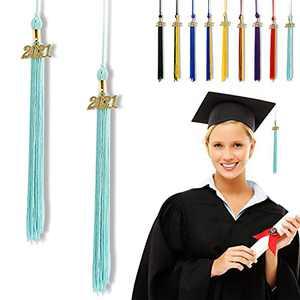 """Graduation Tassel 2021, Tassels for Graduation Cap 2021, 2021 Tassel Charm, 16"""" Graduation Tassels"""