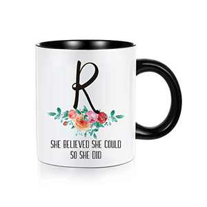 Graduation Gifts for Her 2021, Class of 2021 Graduation Gifts Grad Present She Believed She Could So She Did Inspirational High School College Graduation Gifts for Her, 11 oz Mugs Coffee Tea Cup