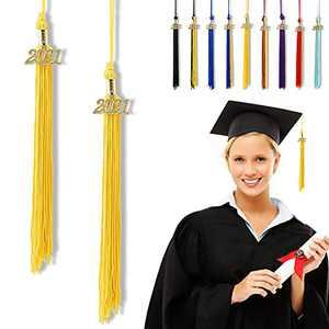 """Graduation Tassel 2021, Tassels for Graduation Cap 2021, 2021 Tassel Charm, 13"""" Graduation Tassels"""