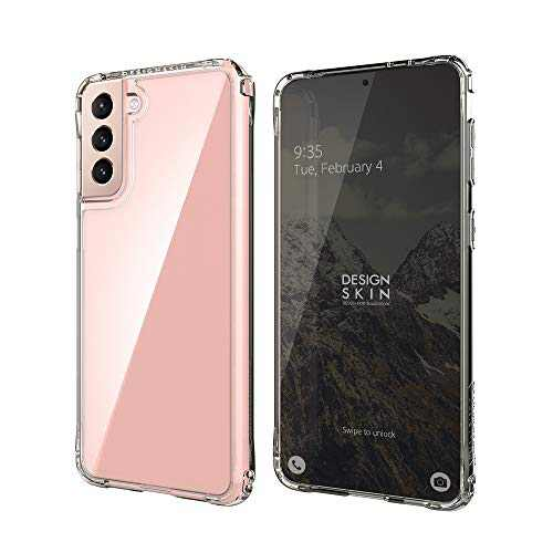 Design Skin Phoenix Pro Designed for Galaxy S21 Plus (2021), Thin Fit Slim Shockproof Rugged Transparent Protective Anti Scratch Cover Compatible with Samsung Galaxy S21 Plus Case - Crystal Clear