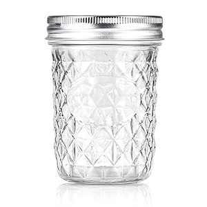 Aitsite 16 OZ Mason Jars, 1PC Canning Jar Set With Regular Lids, Ideal for Jelly, Jam, Honey, Wedding Favors, Shower Favors, Baby Foods, DIY Magnetic Spice Jars