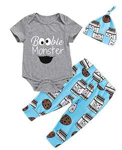 Dramiposs Newborn Boy Outfits Baby Boy Coming Home Clothes Baby Hospital Outfit (Gray-Short, 0-3 Months)