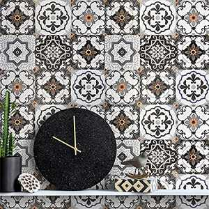 """Bohemia Pattern Peel and Stick Wallpaper for Kitchen Contact Paper Decorative Self Adhesive Contact Wallpaper Peel and Stick Backsplash Wallpaper for Kitchen Removable Wall Paper Vinyl 17.7""""x 118.1"""""""