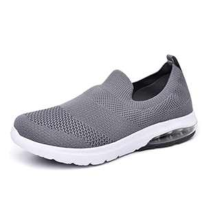 SIRUIYUAN Womens Running-Shoes Lightweight-Breathable Air-Sneakers - Mesh Walking Cushion Socks Gym Work Tennis Hiking Jogging Basketball Fashion Sneakers Shoes (Darkgray, Numeric_9)