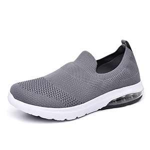 SIRUIYUAN Womens Running-Shoes Lightweight-Breathable Air-Sneakers - Mesh Walking Cushion Socks Gym Work Tennis Hiking Jogging Basketball Fashion Sneakers Shoes(DARKGRAY-6-7)