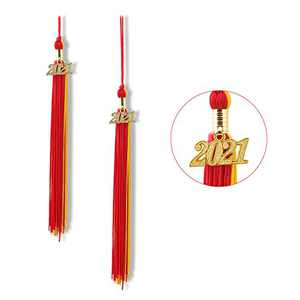"""Graduation Tassel 2021, Tassels for Graduation Cap 2021, 2021 Tassel Charm, 9"""" Graduation Tassels(Red and Gold)"""