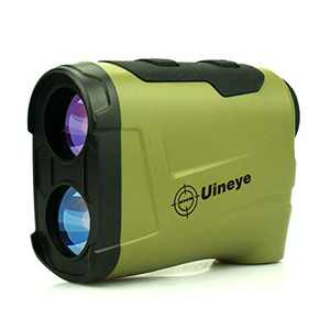 Uineye Laser Rangefinder - Range : 5-1300 Yards, 0.33 Yard Accuracy, with Height, Angle, Horizontal Distance Measurement Perfect for Hunting, Golf, Engineering Survey (Olive-1312)