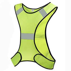 CHILEAF Reflective Vest Gear for Men Women, Adjustable 360° High Visibility Safety Clothing, Night Vest Reflector for Running, Jogging, Biking, Motorcycle, Walking