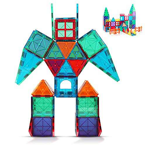 Magnetic Building Blocks Game Toy, 3D Magnetic Tiles Construction Playboards Kit Develop Kids Imagination, Inspiration and Fine Motor Skills in Children Educational Toys for Age 3 - 8 Year-Old