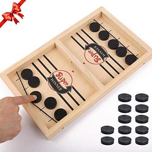 Fast Sling Puck Game, Slingshot Games Toy, Table Desktop Battle Ice Hockey Game, Paced Winner Board Games for Parent-Child