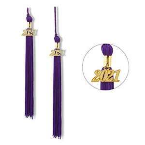 """Graduation Tassel 2021, Tassels for Graduation Cap 2021, 2021 Tassel Charm, 9"""" Graduation Tassels(Purple)"""