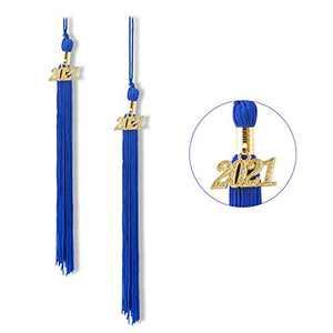 """Graduation Tassel 2021, Tassels for Graduation Cap 2021, 2021 Tassel Charm, 9"""" Graduation Tassels(Sapphire Blue)"""