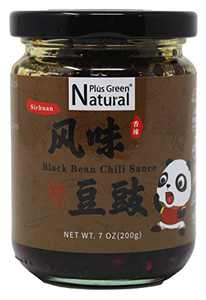Natural Plus Green Authentic Sichuan Black Bean Chili Sauce 200g, Spicy Tingly Fermented Fried Black Bean Hot Chili Sauce, Ready to Eat and Use as Topping, Sauce, Condiment