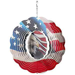 Kpbel Wind Spinner, Kinetic Wind Spinner, 3D Stainless Steel Eagle Crafts Ornaments Yard Decor Hanging Whirligigs Sun Catcher Windmills for Patio and Lawn Ornaments Art