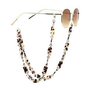 Neubella Mask Chain Glasses Holder for Women, Acrylic Mask Lanyard 75cm Ivory