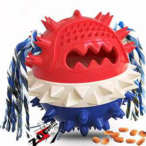 Kissbaby Dog Chews Toys for Aggressive Chewers Squeaky Dog Toy Balls Indestructible Toothbrush Large Breed Dog Treat Ball for Big Medium Small Puppy Dog Chew Toy