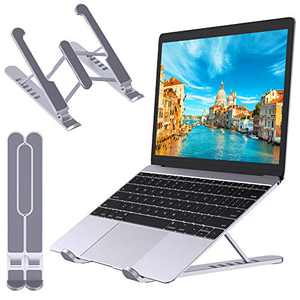 """STOON Laptop Stand, Portable Laptop Stand for Desk, 6-Levels Adjustable Ventilated Cooling Computer Notebook Stand Riser, Compatible with MacBook Air Pro, Lenovo, Dell and More 10-15.6"""" Laptops"""
