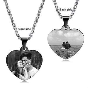 JUST MEET YOU Image Dog Tag Necklace for Women | Picture Necklace Personalized Photo Pendant for Him & Her | Graduation Gift for Him & Her | Dog Tags Necklace for Men