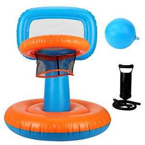 Vanblue Inflatable Basketball Hoop Pool Basketball Hoop for Kids 1 Ball and Pump