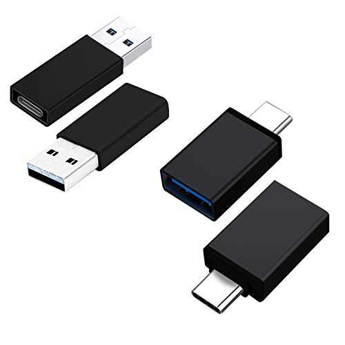 4 Pack USB C to USB 3.0 Adapter, USB Type-C to USB,Thunderbolt 3 to USB Female Adapter OTG and USB C Female to USB Male Adapter,Type C to USB A Charger Cable Adapter Compatible with iPhone 12